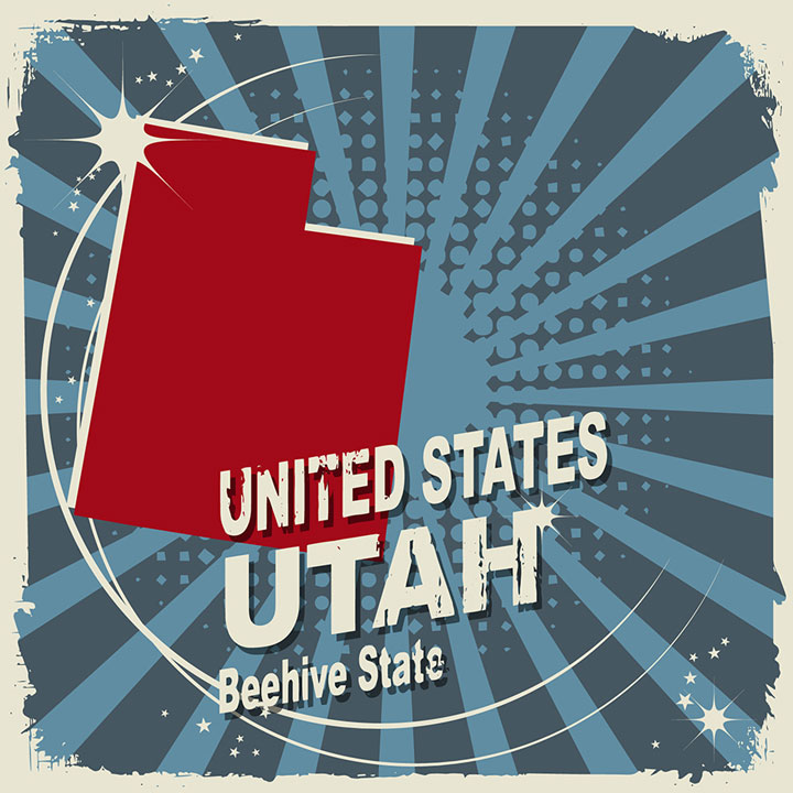 abstract utah map