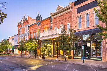 Center Street in downtown Provo, Utah