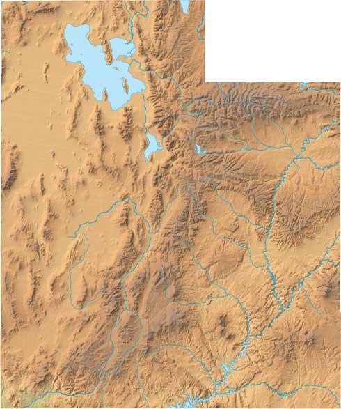 Utah relief map